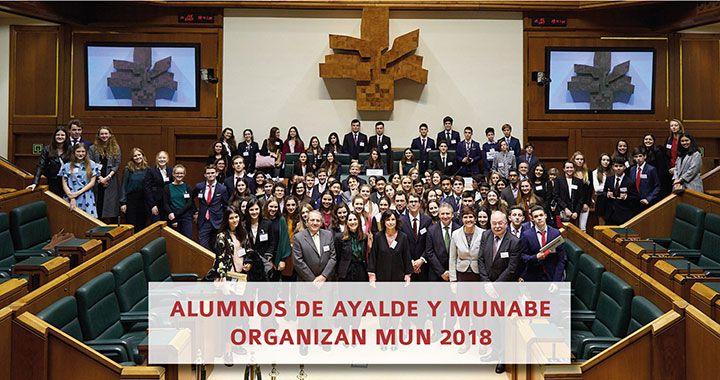 Alumnos de Ayalde y Munabe Organizan MUN 2018