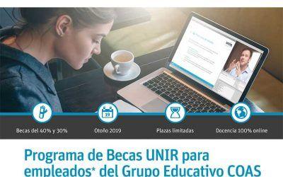 El Grupo Educativo COAS firma un nuevo convenio con la UNIR