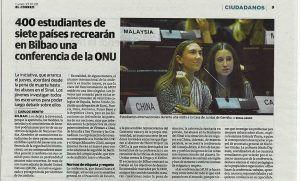 Ayalde y Munabe recrean una conferencia de la ONU.