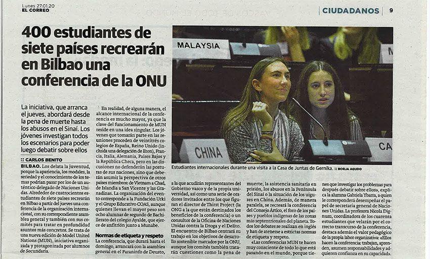 400 estudiantes de siete países recrearán una conferencia de la ONU