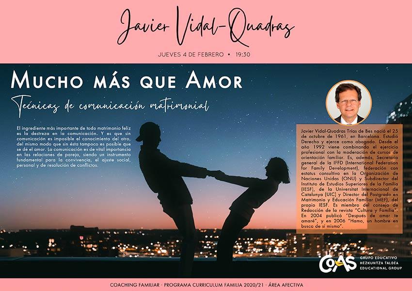 """Sesión """"Mucho más que Amor"""" con Javier Vidal-Quadras sobre la comunicación en el matrimonio"""