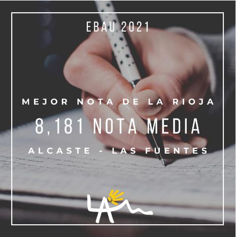 Alcaste-Las Fuentes, por tercer año consecutivo, el centro con mejor nota en la EBAU